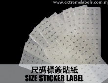 Size Sticker Label